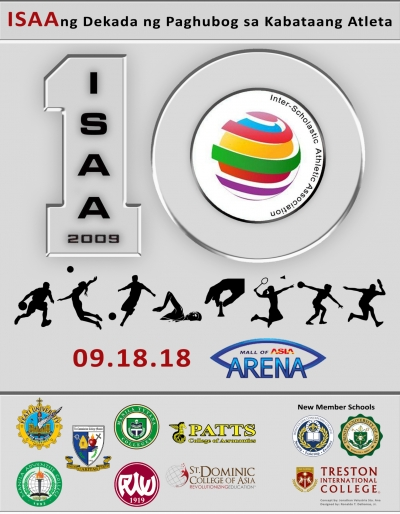 10th Inter-Scholastic Athletic Association opening ceremony on September 18, 2018, at Mall of Asia Arena