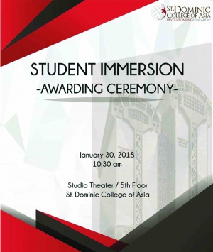 Student Immersion Awarding Ceremony