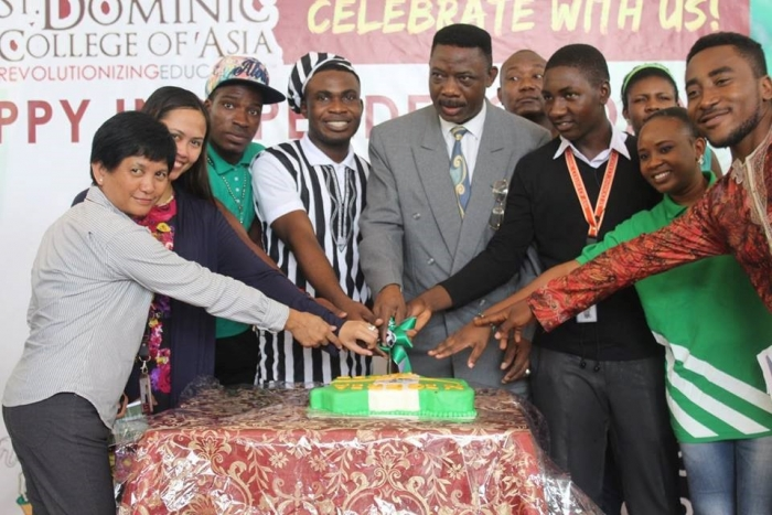 Nigerian students celebrate their 56th Independence Day
