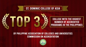 SDCA RECEIVES THE TOP 3 SPOT OF COLLEGE WITH THE HIGHEST ACCREDITED PROGRAMS IN THE PHILIPPINES