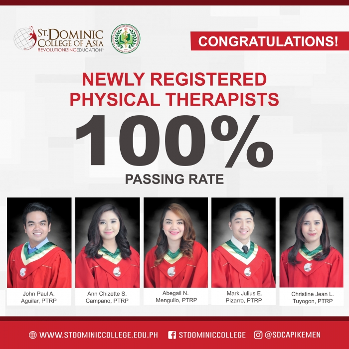 SDCA produces a perfect board exams passer for Physical Therapy