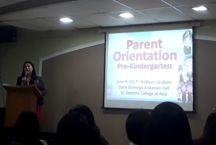 SDCA Hosts the First Kinder Parents Orientation