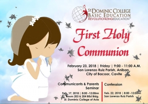 Basic Education Department`s First Holy  Communion 2018