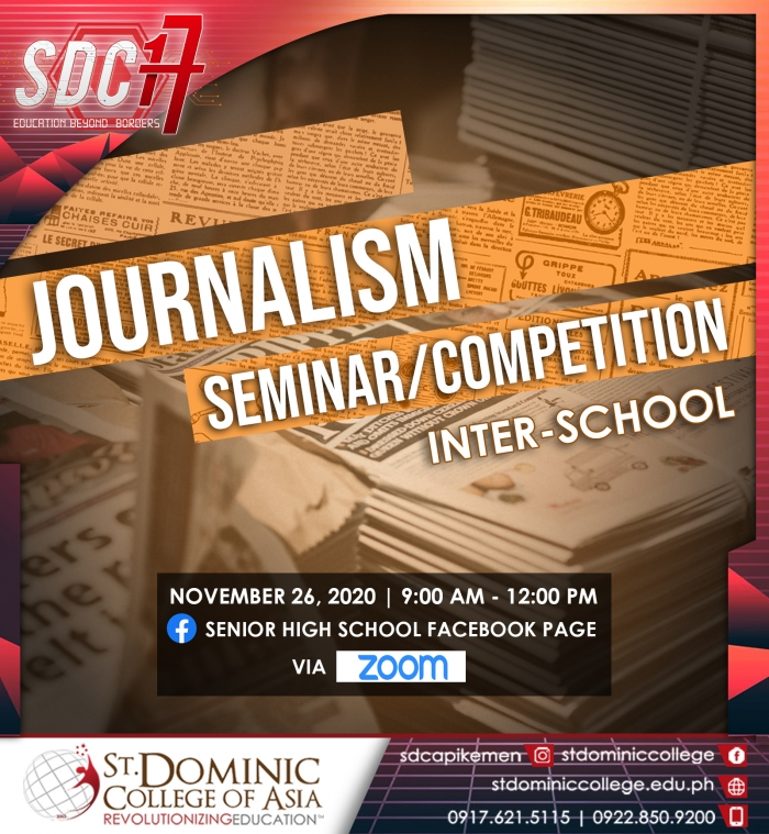 SDCA, VANGUARD SPEARHEADS ONLINE INTERSCHOOL JOURNALISM COMPETITION