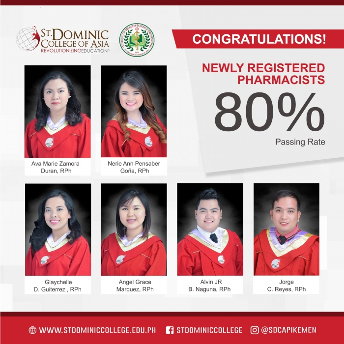 SDCA produces newly Registered Pharmacists and Radiologic Technologists